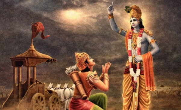krishna stand with pandav
